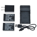 Power Battery (2-Pack) and Charger for Canon LP-E17 and Canon EOS M3, EOS Rebel T6i, EOS Rebel T6s, EOS 750D, EOS 760D, EOS 8000D, Kiss X8i  black